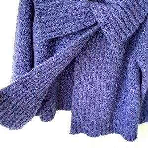 Evan Picone Sweaters - Evan Picone Wool Blend Purple Sweater Cape